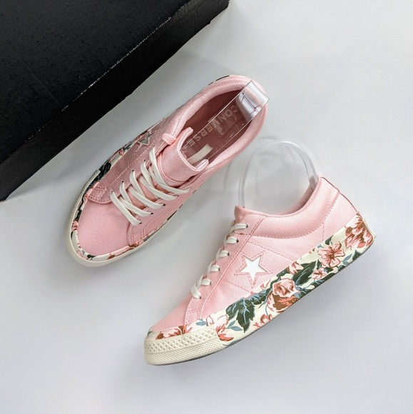 Converse One Star OX Floral Print Storm Pink